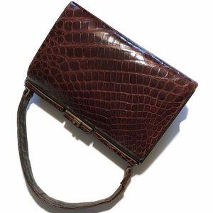 Vintage 1940s Alligator Handbag